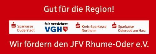 Die Sparkassen Duderstadt, Northeim und Osterode, sowie die VGH unterstützen gemeinsam den JFV!!